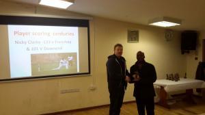 BWIPCC awards - Nick Clarke century