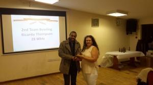 BWIPCC awards - Ricardo Thompson 2nd team bowling
