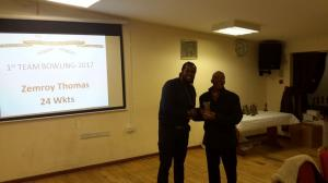 BWIPCC awards - Zemroy Thomas bowling